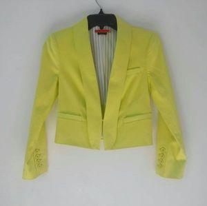 ALICE + OLIVIA Elyse Blazer Jacket Yellow XS